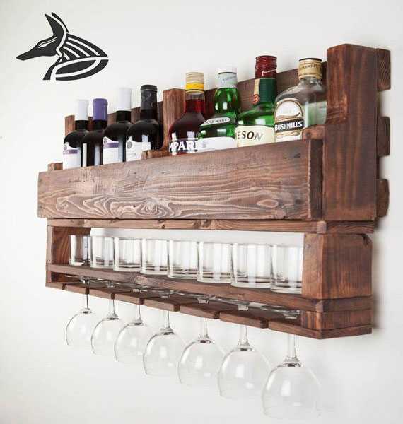 قفسه های چوبی