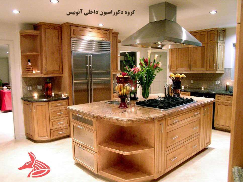 استفاده از کابینت جزیره در سبک های مختلف آشپزخانه