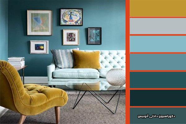 رنگ بندی در دیزاین خانه